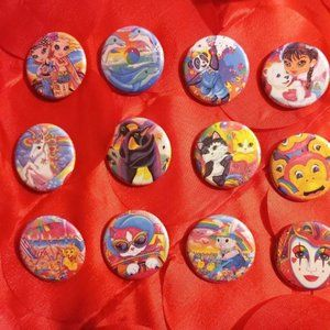Lisa Frank Button Collection #3 - 15 Buttons
